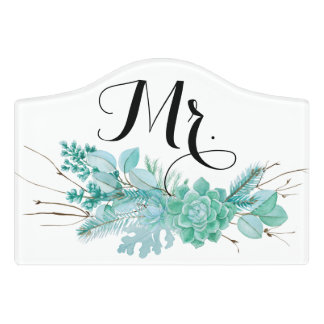 Mr winter wedding decor door sign