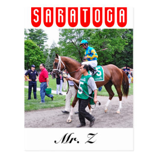 Mr. Z in the 100th Sanford Stakes Postcard