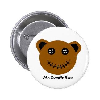 Mr Zombie Bear Button