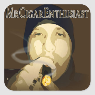 MrCigarEnthusiast Square Sticker
