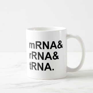 mRNA rRNA tRNA | Types of RNA Coffee Mug