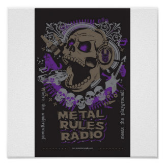 MRR Screaming Skull Poster