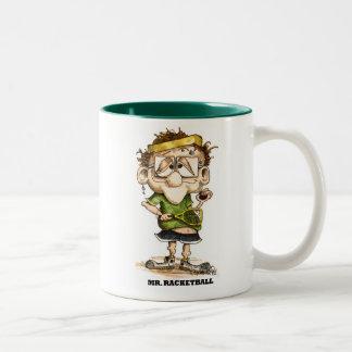mrracketball Two-Tone coffee mug