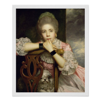 Mrs Abington as Miss Prue in Congreve's 'Love for Poster
