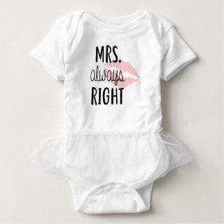 Mrs Always RIght Baby Bodysuit