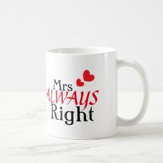 Mrs (always) Right Basic White Mug