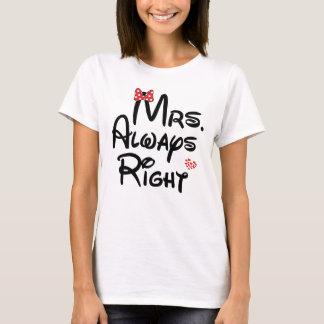 Mrs Always Right Couple Women's Basic T-Shirt
