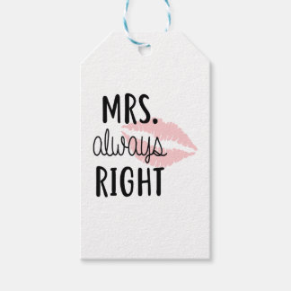 Mrs Always RIght Gift Tags