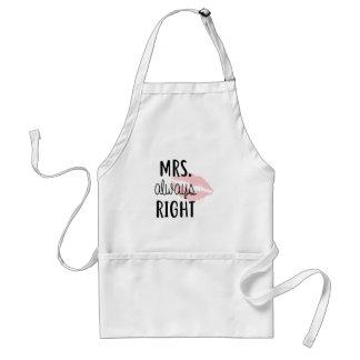 Mrs Always RIght Standard Apron