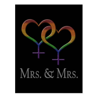 Mrs. and Mrs. Lesbian Pride Postcard