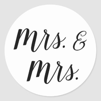 Mrs. and Mrs. stickers