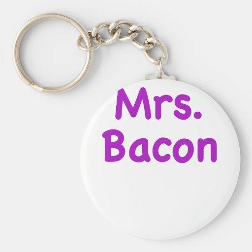 Mrs. Bacon Keychain