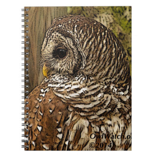 Mrs Barred Owl Spiral Note Book