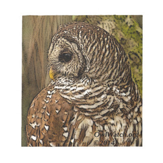 Mrs Barred Owl Notepad