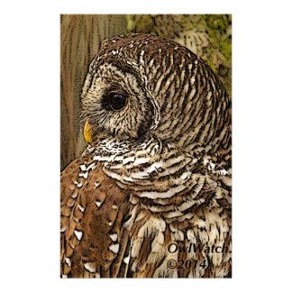 Mrs Barred Owl Stationery