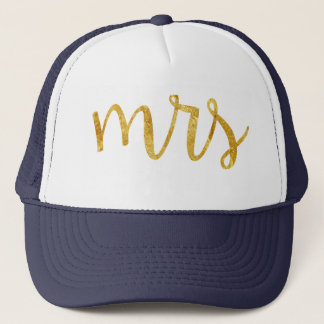 Mrs Bride Gold Foil Hat
