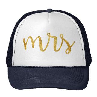 Mrs Bride Gold Foil Hat