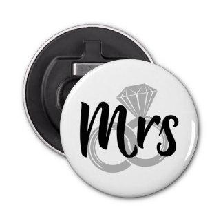 Mrs Bride Wedding Rings Bottle Opener