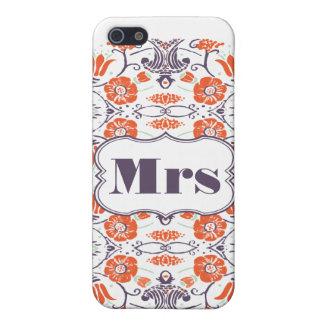 Mrs Bride's FLORAL Pattern iPhone 5 Case