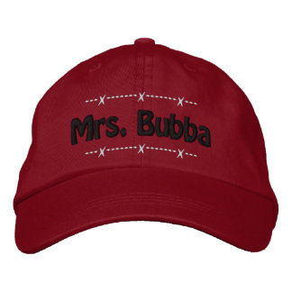 Mrs. Bubba Funny Redneck Nickname Embroidered Hats