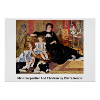 Mrs Charpentier And Children By Pierre Renoir Posters