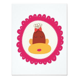 Mrs Cheeky Monkey 11 Cm X 14 Cm Invitation Card