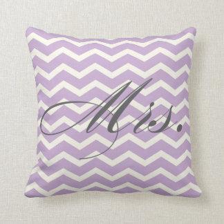 Mrs. Chevron Stripes American MoJo Pillow Throw Cushions
