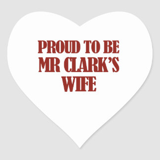Mrs clark designs heart sticker