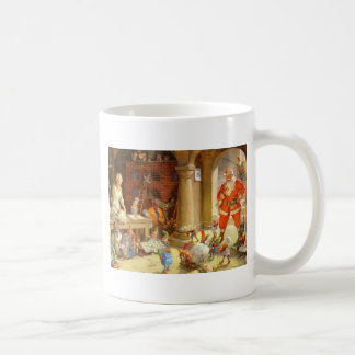 Mrs. Claus & Santas Elves baking Christmas Cookies Coffee Mug