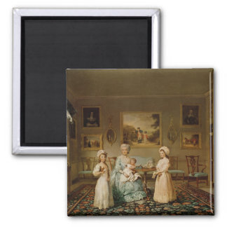 Mrs Congreve and her children Square Magnet