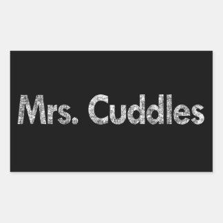 Mrs. Cuddles Rectangular Sticker