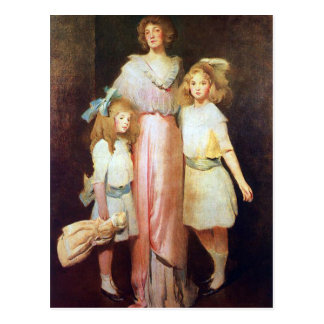 Mrs. Daniels with Two Children Postcard