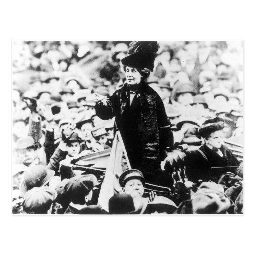 Mrs Emmeline Pankhurst  Addressing a Crowd Post Cards