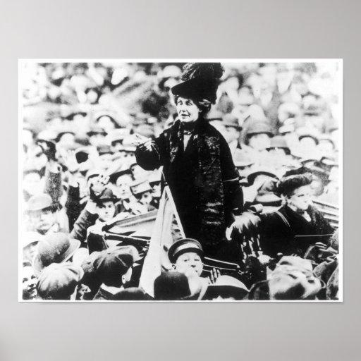 Mrs Emmeline Pankhurst  Addressing a Crowd Posters