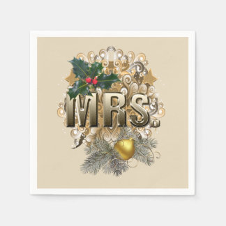 MRS. First Christmas Disposable Serviette