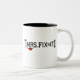 Mrs Fix It Two-Tone Coffee Mug