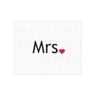 Mrs  - half of Mr and Mrs set Canvas Print