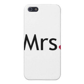 Mrs - half of Mr and Mrs set iPhone 5/5S Case