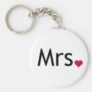 Mrs  - half of Mr and Mrs set Keychains