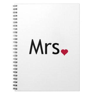 Mrs  - half of Mr and Mrs set Spiral Notebooks