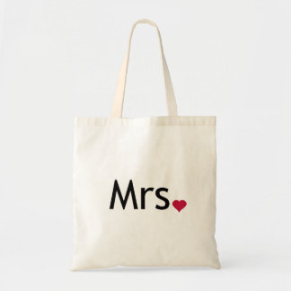 Mrs  - half of Mr and Mrs set Budget Tote Bag