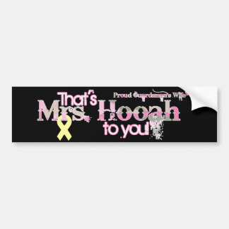 Mrs.Hooah Pick-Up Bumper Sticker