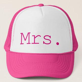 Mrs. Hot Pink Customizable Trucker Hat