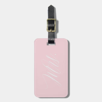 Mrs. JUST MARRIED Pink Luggage Tag