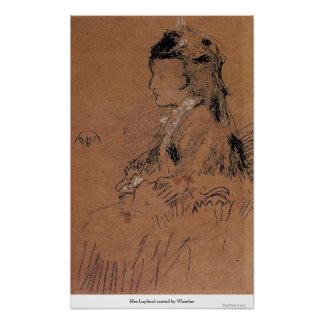 Mrs Leyland seated by Whistler Poster