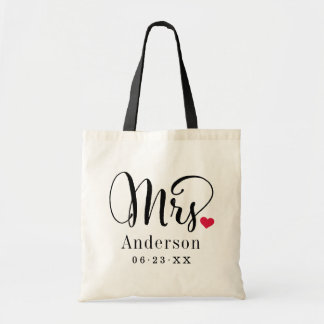 Mrs. Married Moogram | Wedding Gift Tote Bag