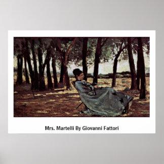 Mrs. Martelli By Giovanni Fattori Poster