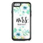 Mrs. Modern Script Mint Gold White Watercolor OtterBox iPhone 6/6s Case