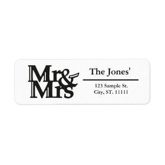 Mrs & Mr Customized Return Address Label