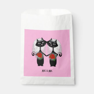 Mrs & Mrs Lesbian Couple Personalized Wedding Favour Bag